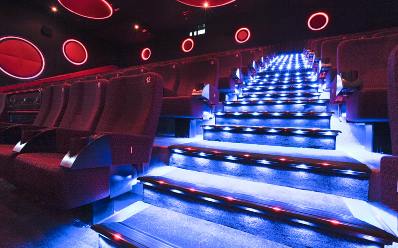 Lighted Stair Nosing At Cine Royal Abu Dhabi. Cine Royal Abu Dhabi