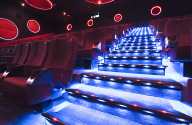Lighted Stair Nosing at Cine Royal Abu Dhabi