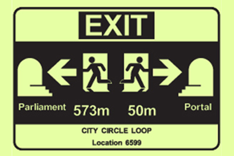 Luminous Emergency Exit Signs